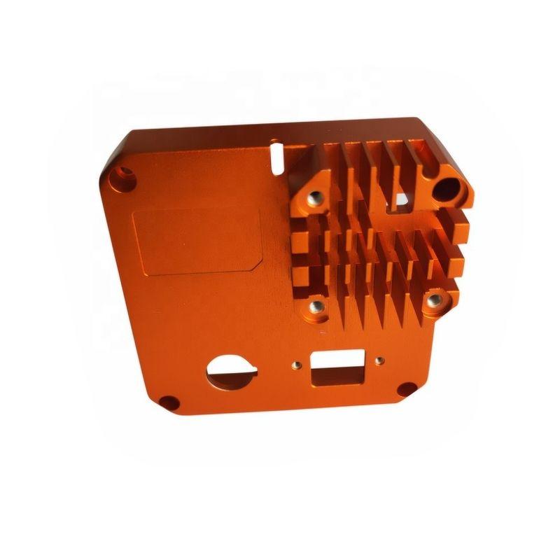 橙色阳极氧化铝散热器挤压型