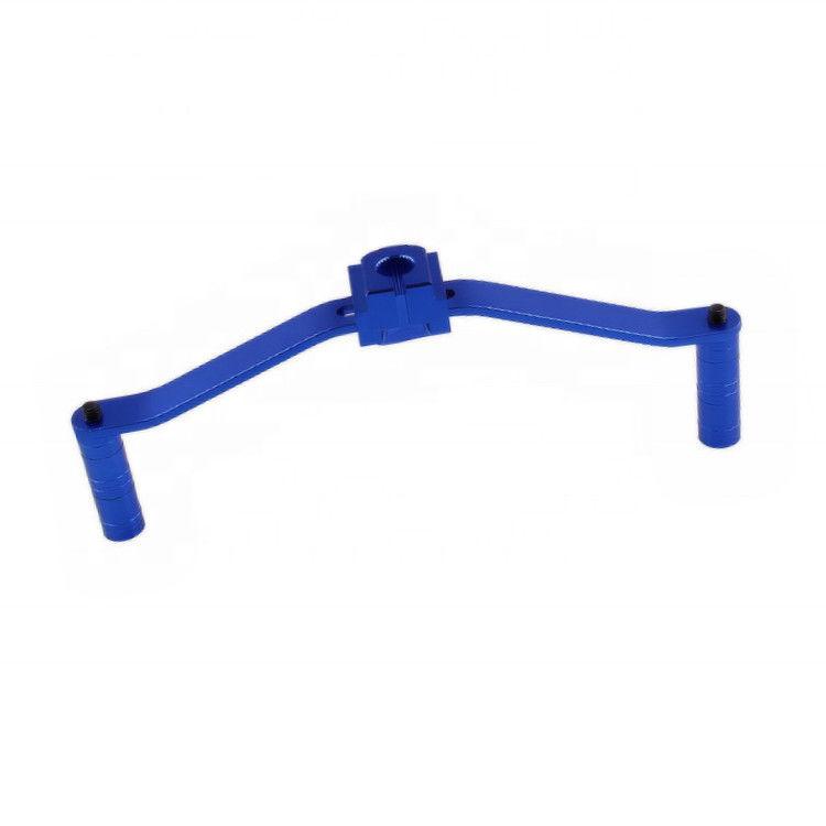 蓝色氧化CNC加工车床车削铣