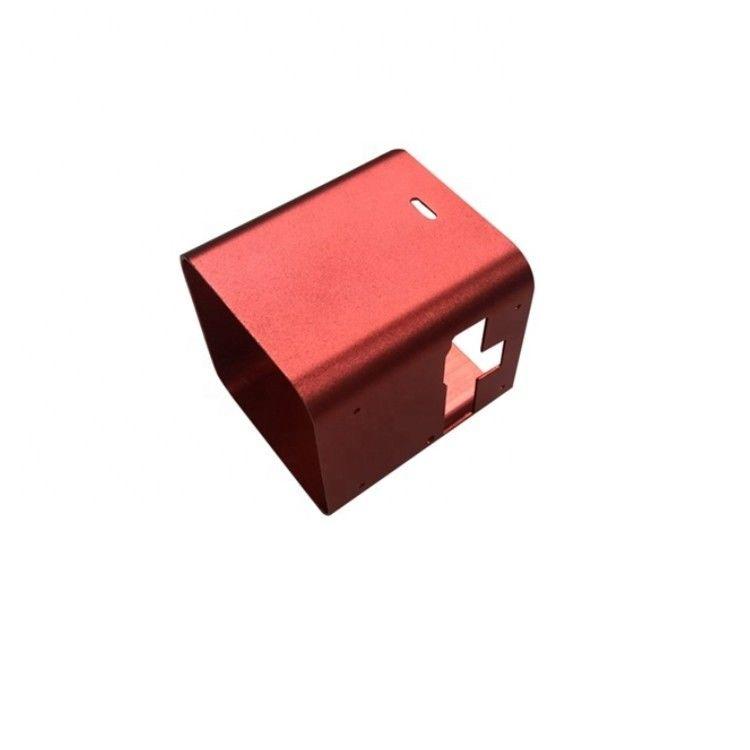 红色CNC铝零件