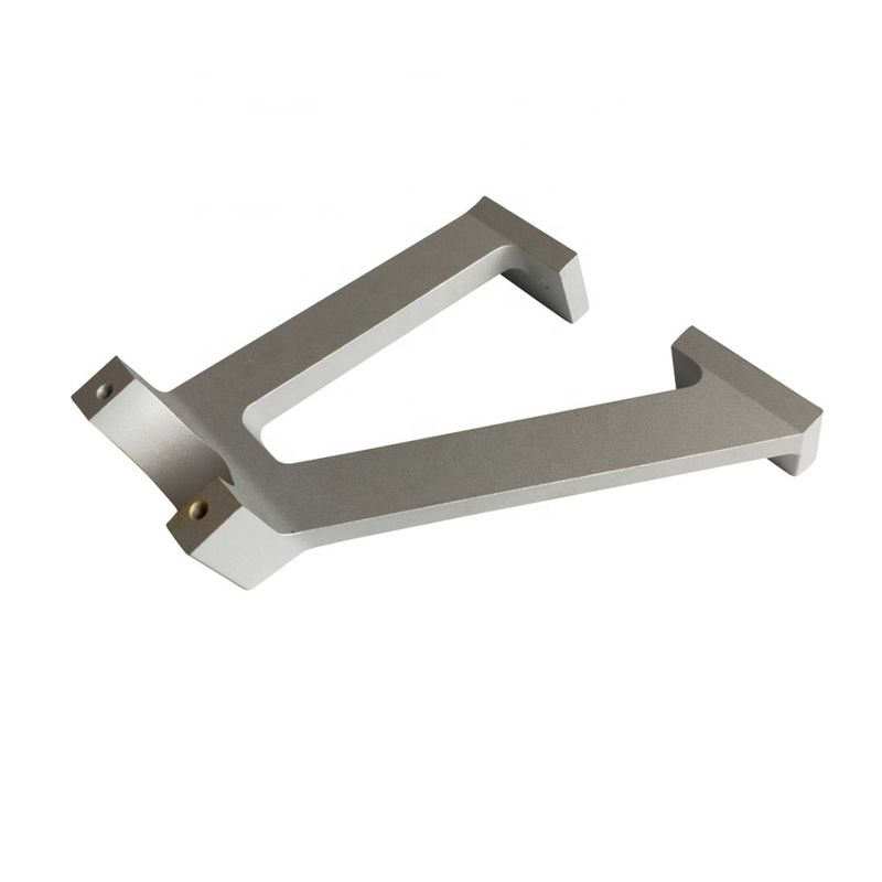 银喷砂CNC加工铣削铝挤压安装支架
