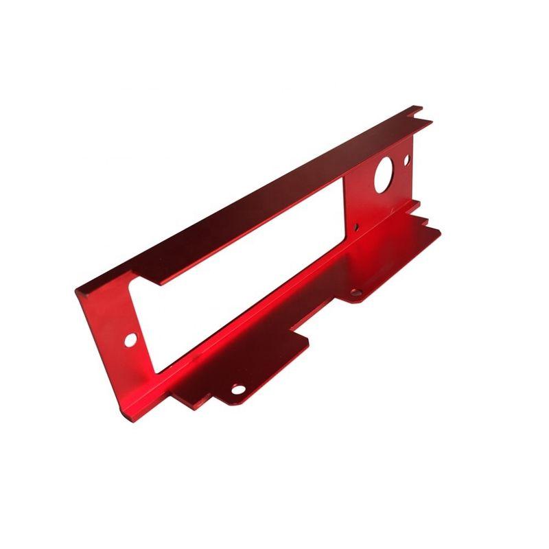 红色CNC加工铣削挤压支架